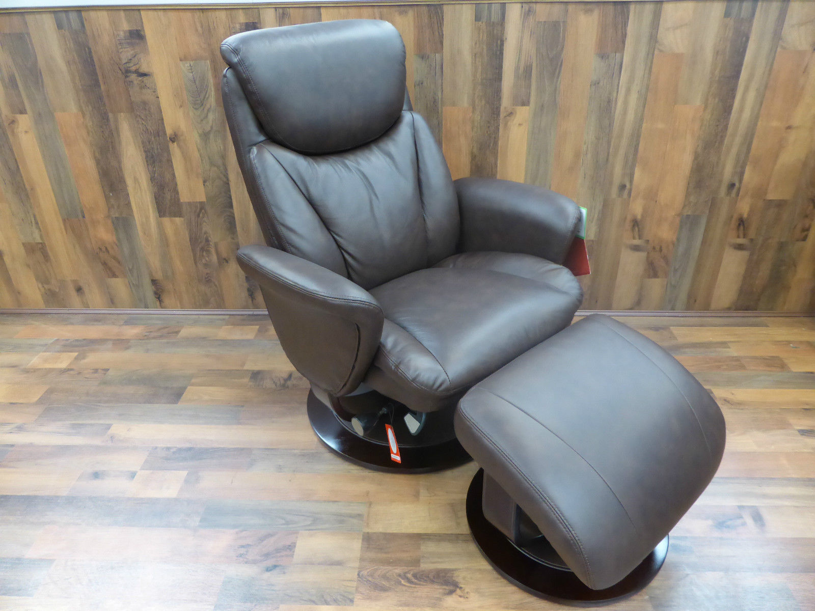 La Z Boy Rondell Swivel Recliner Chair & Footstool Furnimax Brands . Full resolution‎  picture, nominally Width 1600 Height 1200 pixels, picture with #836B48.