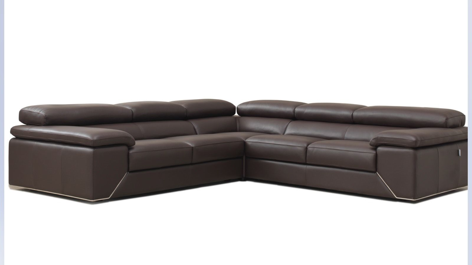 Concept Italia Designer Italian Leather Corner Sofa Brown