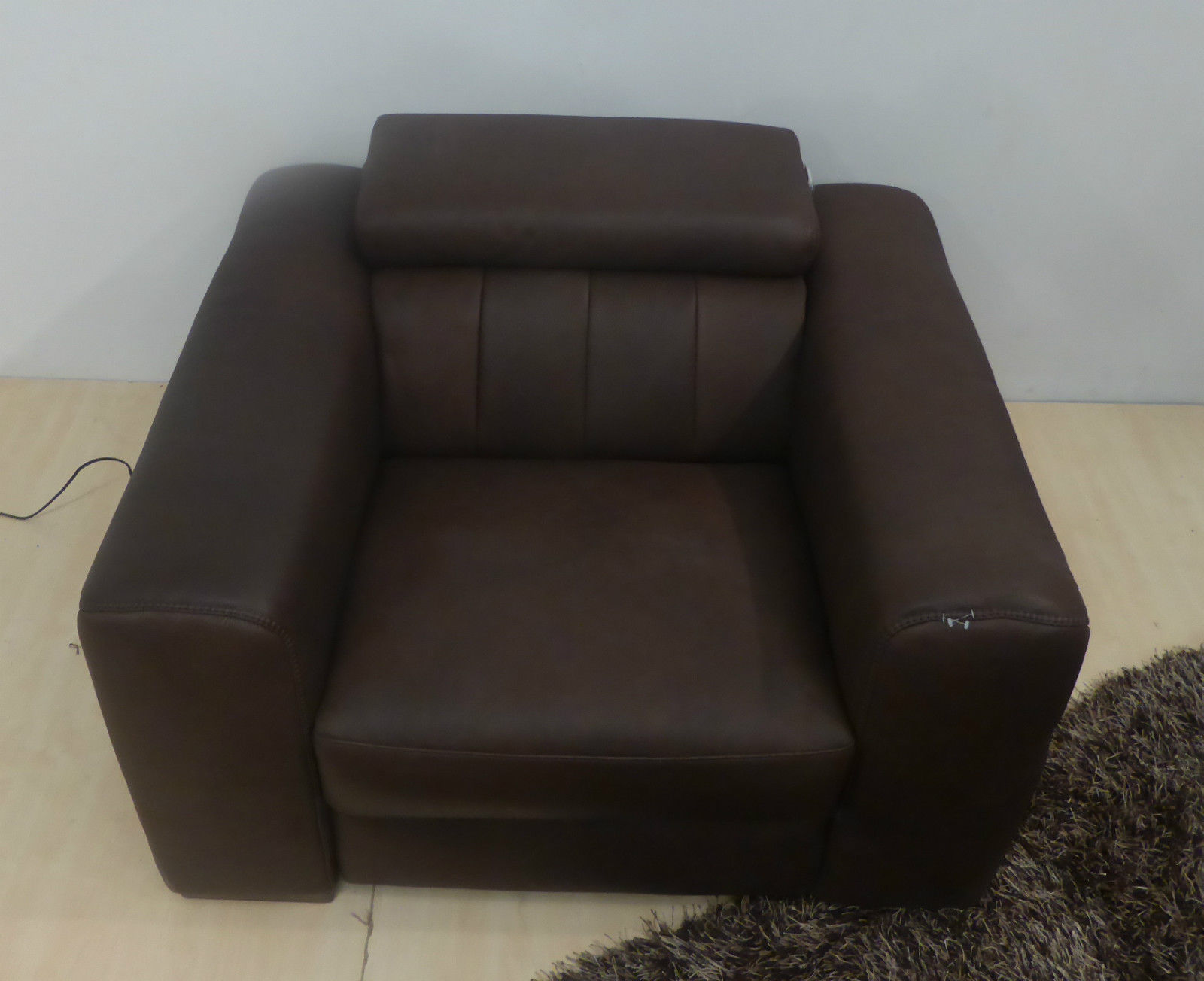 Natuzzi Editions High Grade Madison Leather Power Recliner