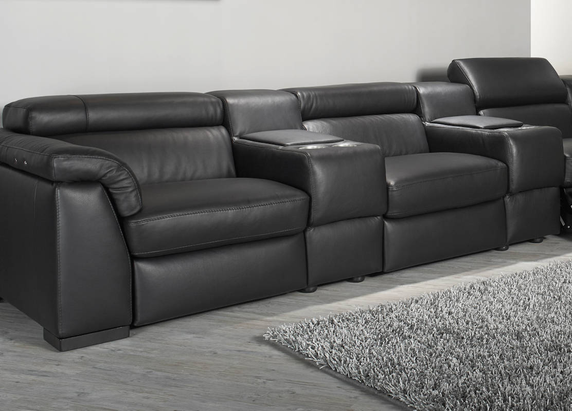 Natuzzi editions encore power reclining cinema seating for Natuzzi leather sofa