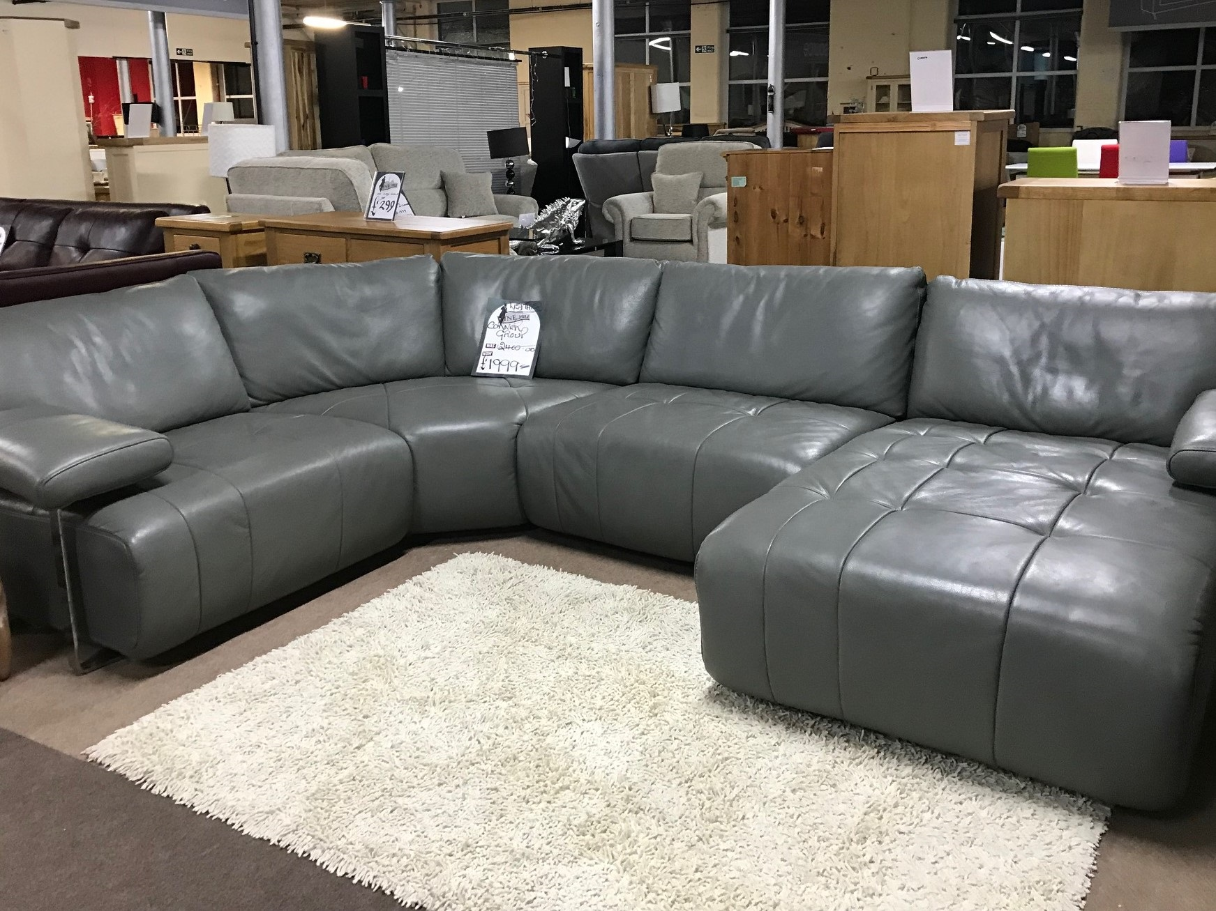 Violino Extremely Comfortable High Grade Large Leather Corner Sofa Furnimax Brands Outlet