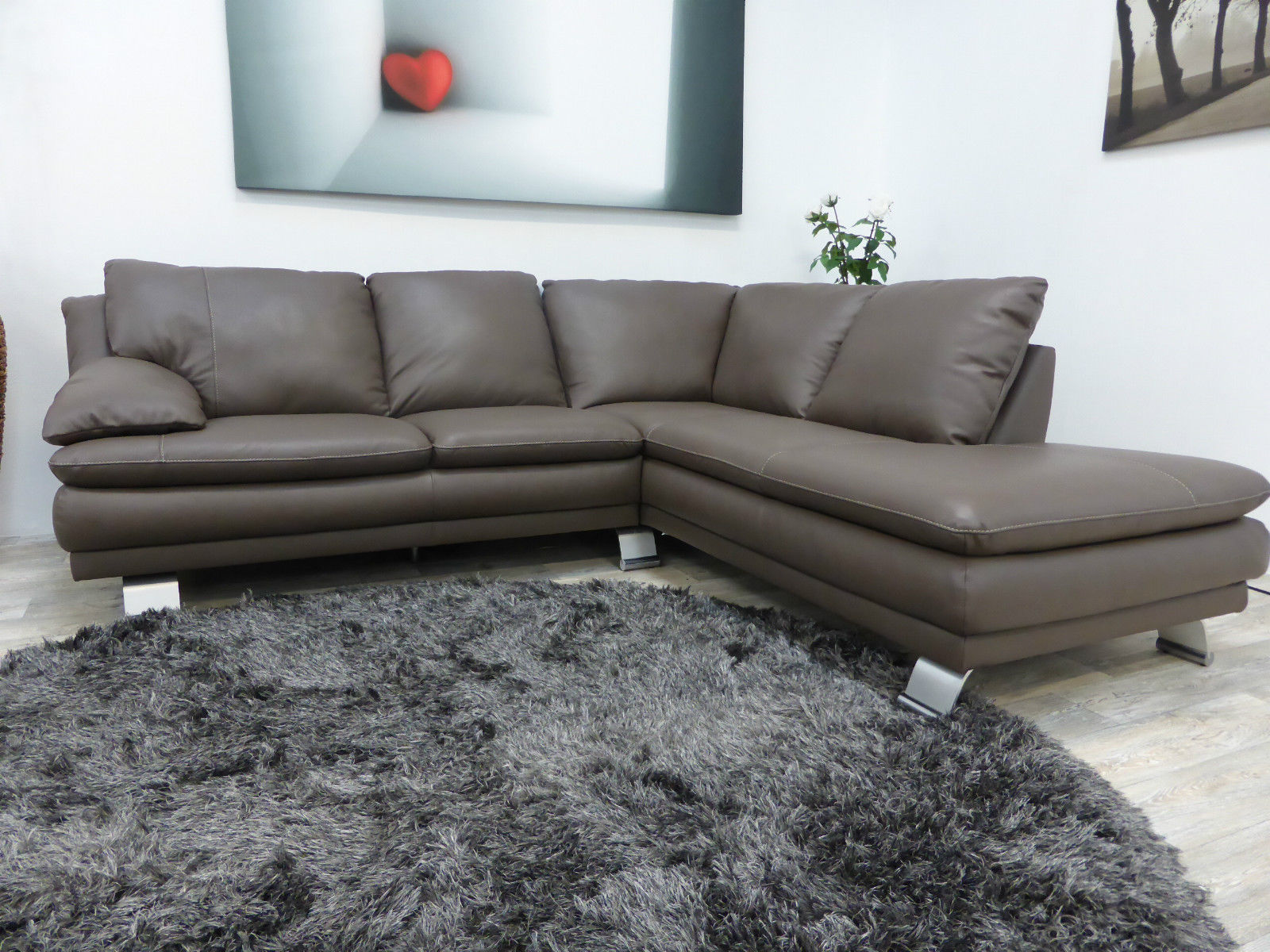 Natuzzi private label vicenza chaise corner sofa for Exclusive sofa