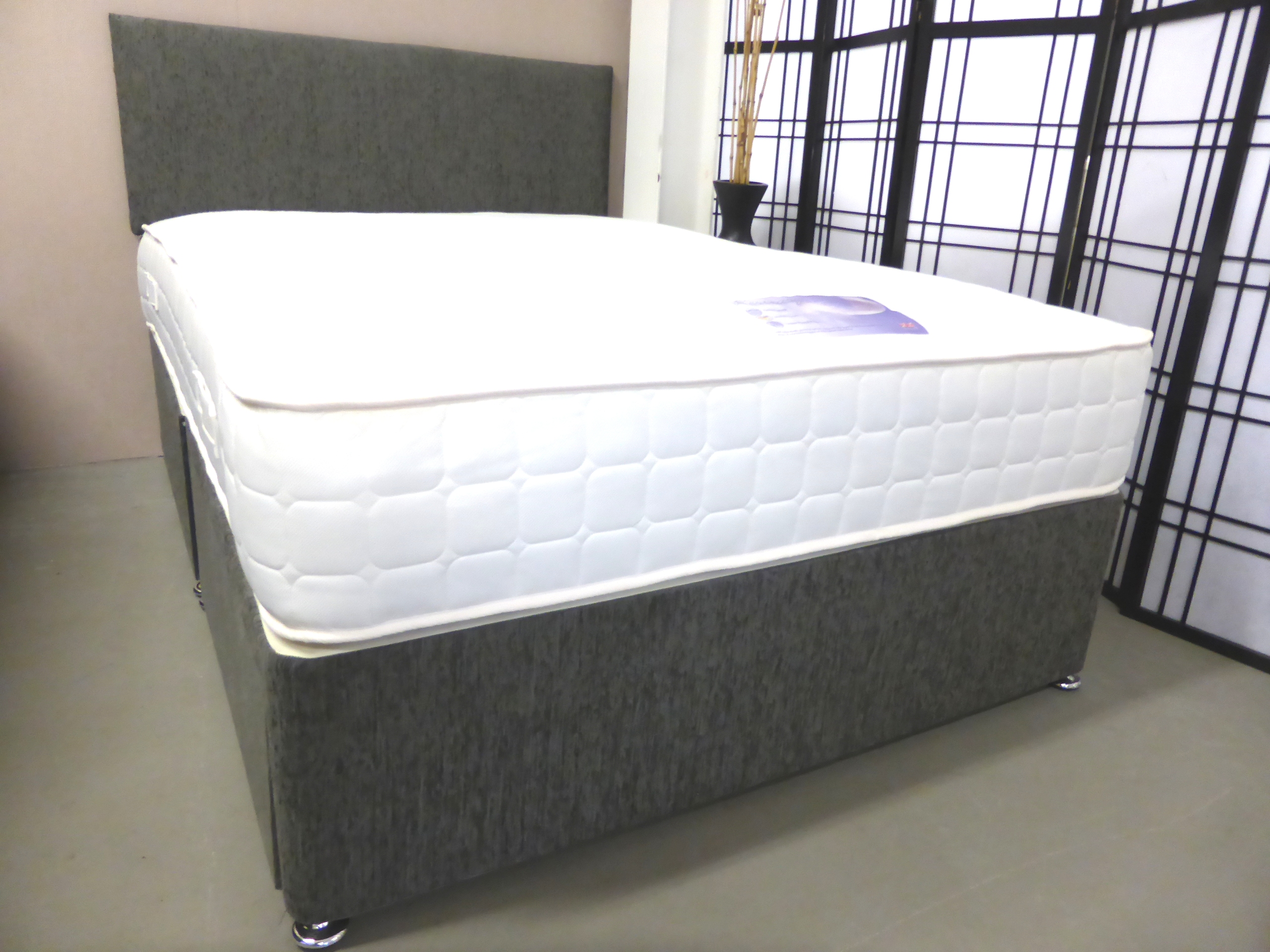 Luxury pocket memory double divan with storage and for Double divan with headboard
