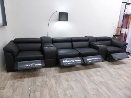 natuzzi editions encore power reclining cinema seating sofa by