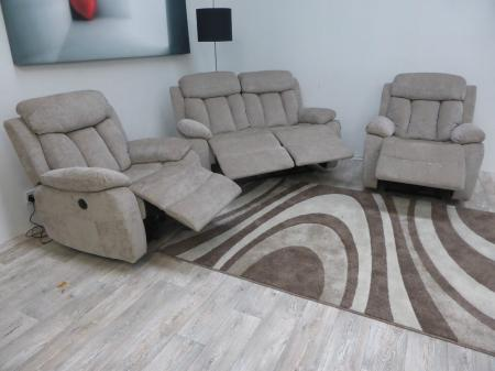 Georgia modern High quality fabric 2 & 2 chairs power recliners