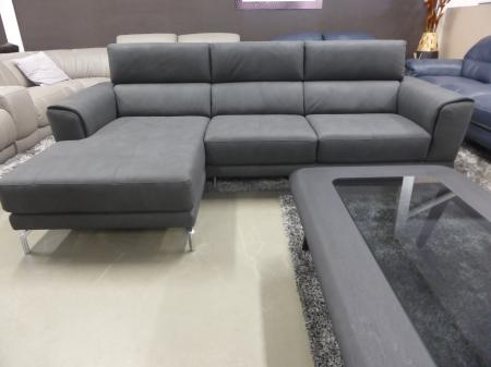 Natuzzi Group Slate Grey Fabric Chaise Sofa Furnimax Brands Outlet