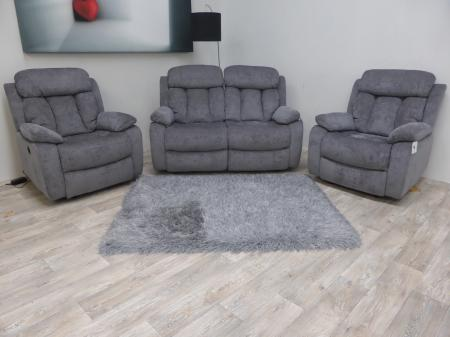 Georgia modern High quality fabric 2 seat & 2 chairs power recliners