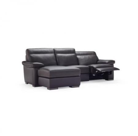 Natuzzi Editions Andria Leather 3 Seater Power Reclining Chaise Sofa Furnimax Brands Outlet