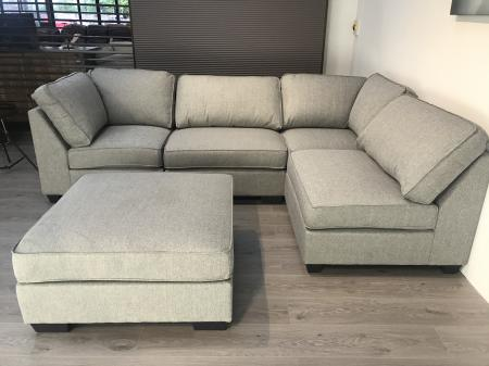 amore madrid fey chaise corner sofa with footstool