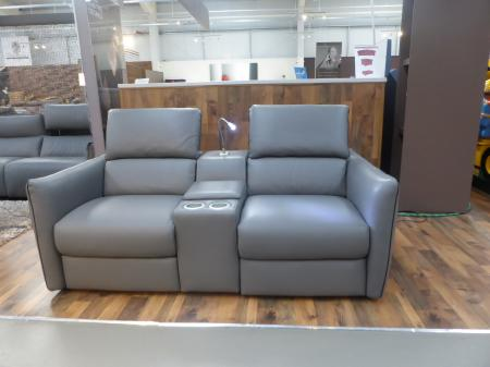 Latest Model Natuzzi Italian leather Paradiso Power Cinema Sofa