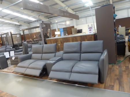 Natuzzi Editions Cinema Sofa New & Trendy Model Grey Italian Leather
