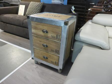 Reclaimed Rustic wood and Aluminium sideboard with drawers