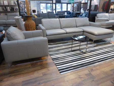 Natuzzi Private Label Potenza 3 Seater Chaise Sofa & Chair