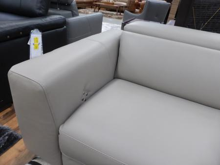 Natuzzi Editions Pensiero Grey Leather power Reclining 3 & 2 Seater