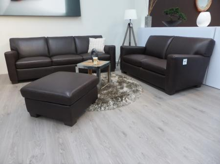 Natuzzi Private label Italian leather 4 Seater , 3 seater & footstool