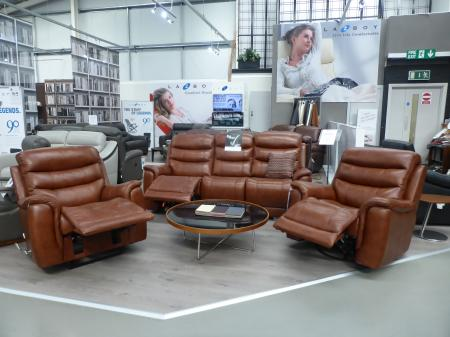La-Z-Boy Originals Sheridan Leather 3 Seater with 2 Chairs