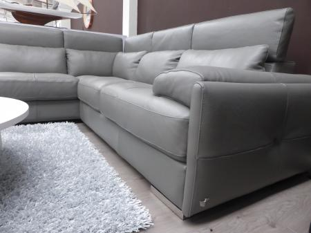CALIA ITALIA TANARO HAND MADE ITALIAN LEATHER CORNER SOFA