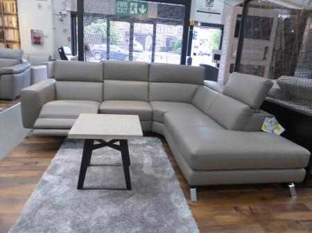 Natuzzi Editions Pensiero Power Reclining Corner Sofa