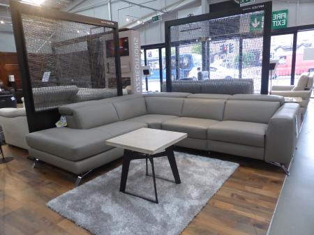 Natuzzi Editions Pensiero L/H Facing Power Corner Sofa