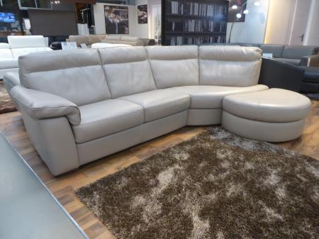 Natuzzi Brivido B757 Leather curve sofa