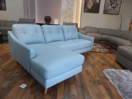 Mizzoni Italia beautiful thick leather Chaise corner sofa