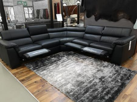 Natuzzi Editions Tommaso Power Reclining Corner Sofa