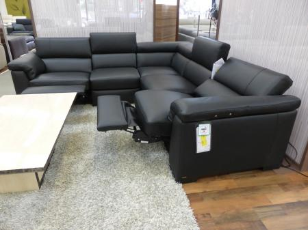 Natuzzi Editions Tommaso leather power reclining corner sofa