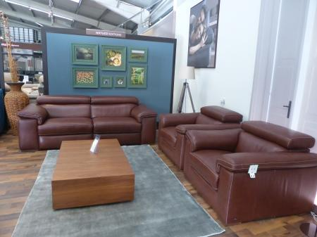 Natuzzi Solare power reclining Leather 3 seater sofa and 2 chairs