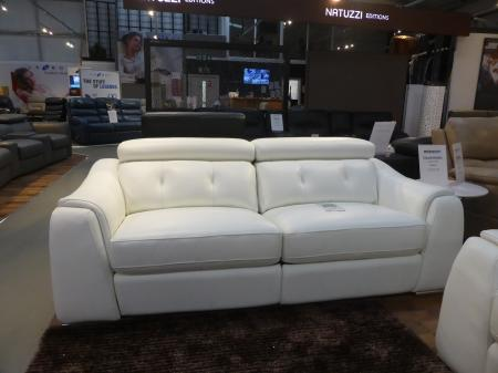 Concept Italia Milan Italian hand made leather power reclining 3 & 2