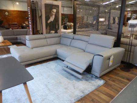 Natuzzi Private Label Raphael Power Reclining Leather Corner Sofa