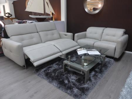 New Trend Concepts Duca 3 Seater Power Recliner & 2 Seater Static