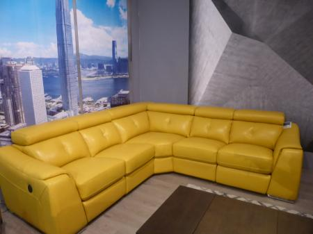 Atlanta power reclining pocket sprung thick leather corner sofa
