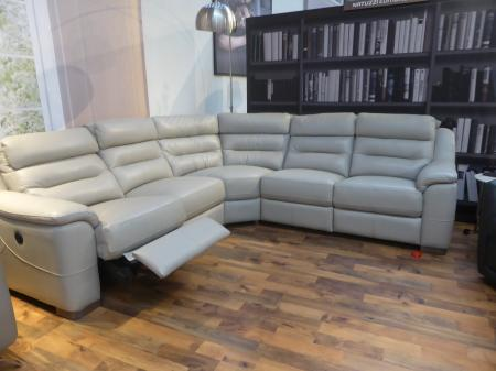 Milan pocket sprung high back modern power corner sofa