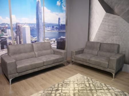Milano Grey soft fabric 3 & 2 seater sofas