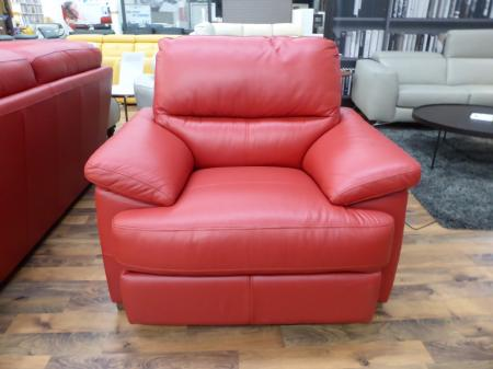 Amalfi leather corner sofa with matching power recliner chair
