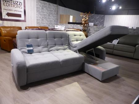 Blom soft fabric corner with Sofabed and storage