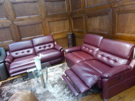 Seattle full leather power reclining 3 & 3 seater sofas