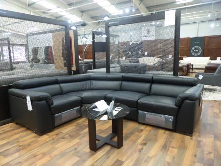Natuzzi Tommaso power reclining leather L/H corner sofa