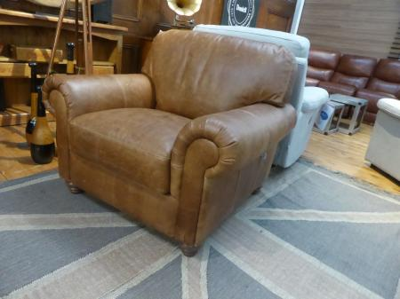 Charles Morgan Antique Natural Leather Chair