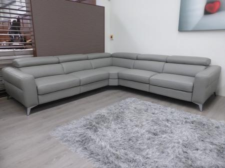 Francoferri Italia leather power reclining corner sofa
