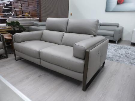 Francoferri Italia Coco leather power reclining 3 & static 2 seater