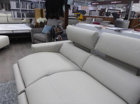 Francoferri Italia Gigi leather power reclining chaise sofa