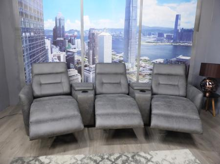 Vue power reclining theatre/cinema sofa