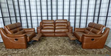 Francis beautiful leather 3+2+2 seater recliner sofas