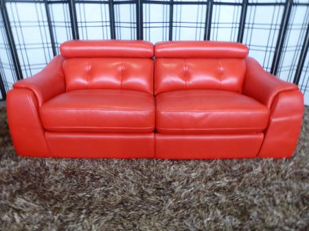 Enzo thick leather power reclining 3 & 2 seater sofa