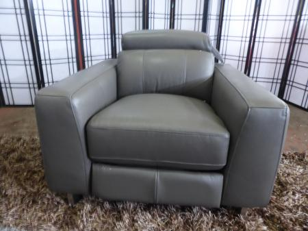 Iconica Grey leather power reclining 3 Seat, 2 seat & chair