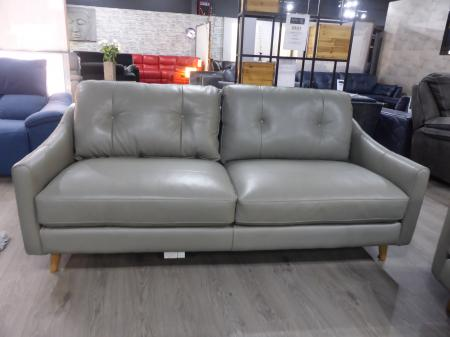 Daisy Grey soft Italian leather 3 +3 seater sofas