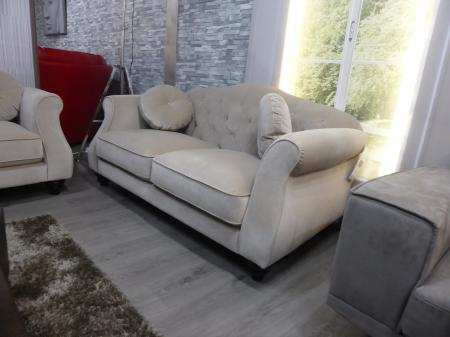 Penelope modern soft fabric 3 & 2 seater sofa