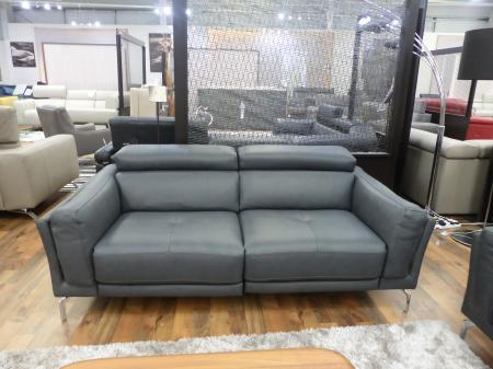 Natuzzi San Diego Italian leather power reclining 3 & static 2 seater