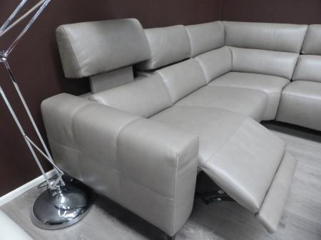 Francoferri Italia Gigi Leather arm to arm power reclining corner sofa
